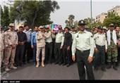 تشییع پیکر امید طاهری کندر شهید نیروی انتظامی - بندرعباس