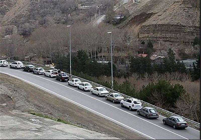 ترافیک جاده کوهستانی