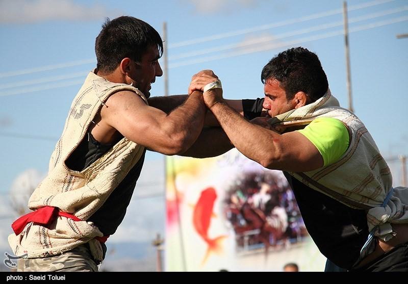 مسابقات کشتی باچوخه در شیروان - خراسان شمالی 