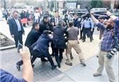 درگیری دوباره محافظان اردوغان با خبرنگاران در واشنگتن + فیلم و عکس