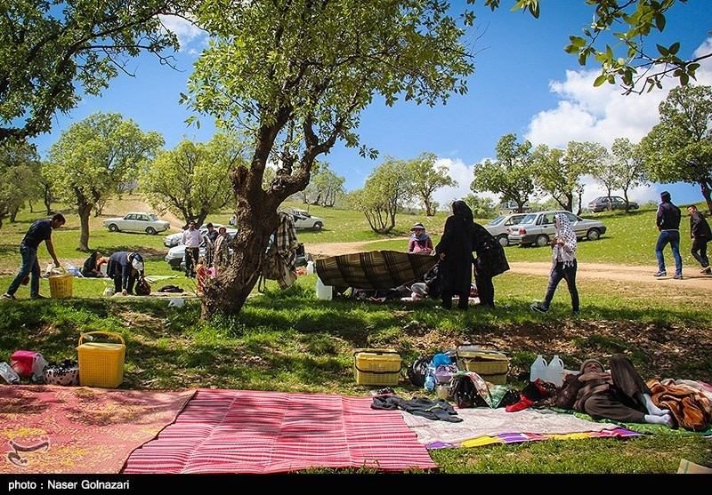 Iranians Picnic Outdoors to Celebrate Nature Day