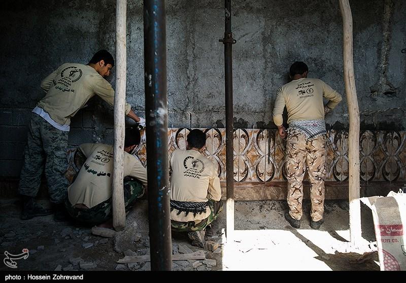 اردوی جهادی در روستای منصوره سادات شادگان