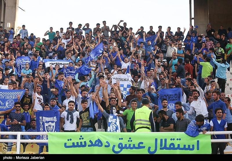 دیدار تیم های فوتبال استقلال خوزستان و استقلال