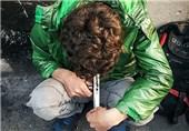 معتاد شوش هروئین مصرف مواد مخدر لب خط