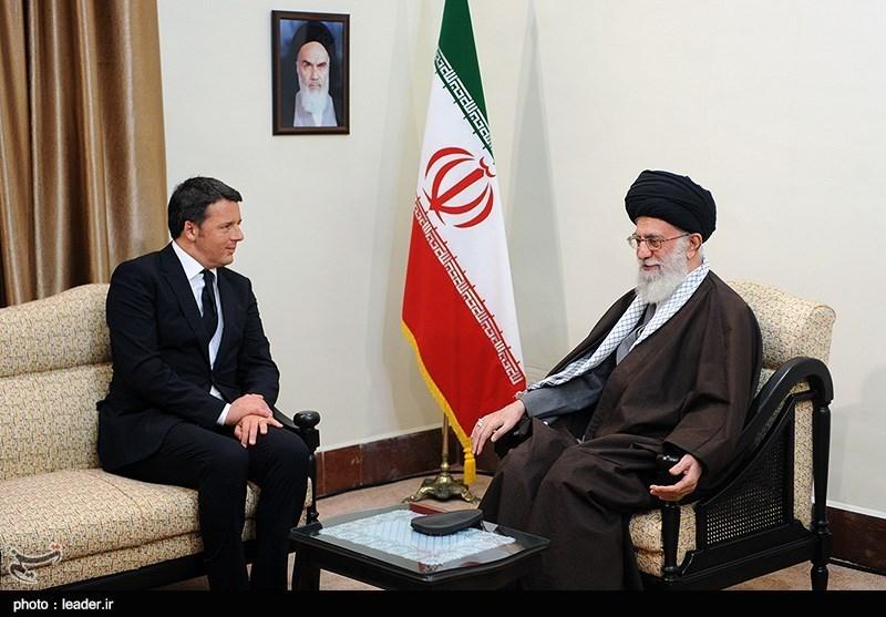 دیدار نخستوزیر ایتالیا با مقام معظم رهبری