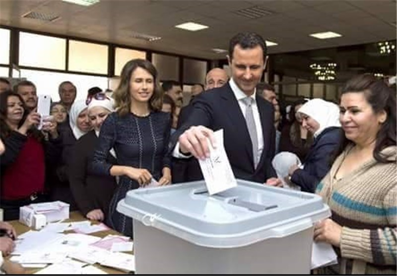 President Assad Casts Ballot in Syria Parliamentary Elections