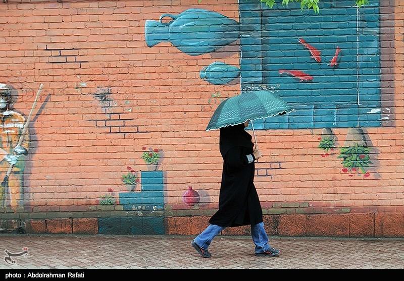 بارش باران بهاری - همدان