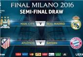 برنامه دیدارهای مرحله نیمه نهایی لیگ قهرمانان اروپا اعلام شد
