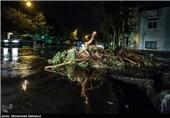 طوفان و بارش شبانه در مشهد