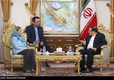 Iran's SNSC Secretary Shamkhani Meets EU's Mogherini in Tehran