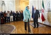 Iran's Zarif, EU's Mogherini Issue Joint Statement after Talks in Tehran