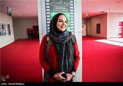 نرگس آبیار کارگردان فیلم نفس در اولین روز سی و چهارمین جشنواره جهانی فیلم فجر