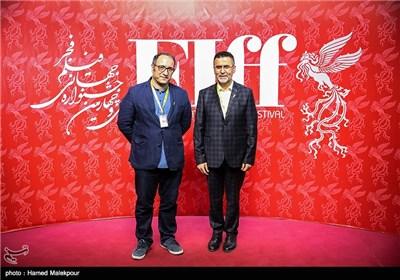 حجتالله ایوبی رئیس سازمان سینمایی و سیدرضا میرکریمی در اولین روز سی و چهارمین جشنواره جهانی فیلم فجر