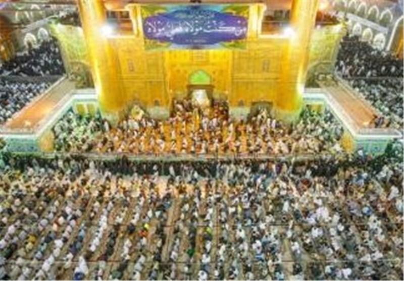 الصحن الحیدری الشریف بالنجف الأشرف یستعد للاحتفال بمیلاد أمیر المؤمنین (ع)