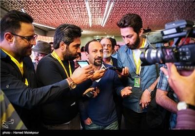 حضور اصغر فرهادی در دومین روز سی و چهارمین جشنواره جهانی فیلم فجر