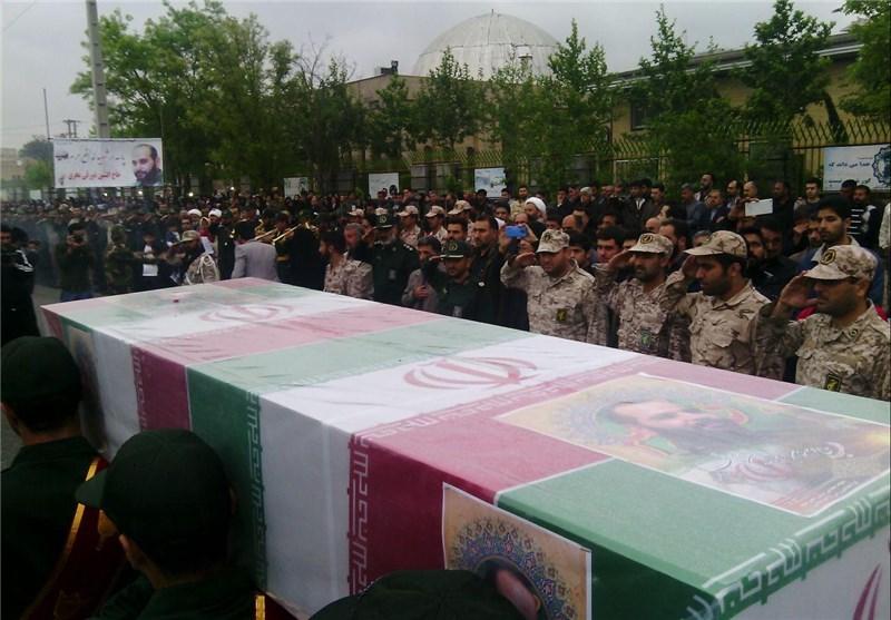 مراسم استقبال از پیکر مطهر شهید مدافع حرم در گرگان برگزار شد