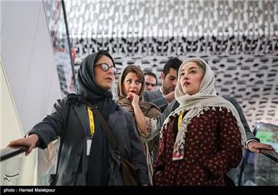 پانتهآ پناهیها و طناز طباطبایی بازیگران فیلم اروند در سومین روز سی و چهارمین جشنواره جهانی فیلم فجر