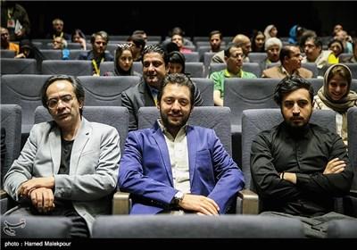 مهرداد صدیقیان، بهرام رادان و کارن همایونفر در سالن نمایش فیلم اروند