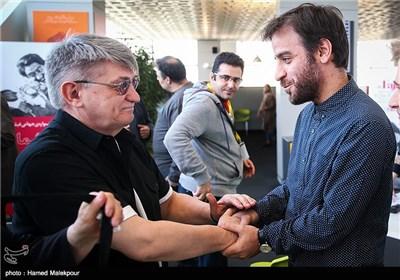 شهرام مکری و الکساندر سوکوروف فیلمساز سرشناس روسی در سومین روز سی و چهارمین جشنواره جهانی فیلم فجر