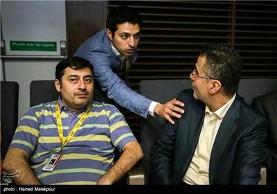 حجتالله ایوبی رئیس سازمان سینمایی و اشکان خطیبی مدیر پردیس سینمایی چارسو