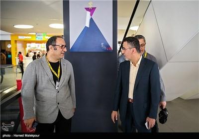 حجتالله ایوبی رئیس سازمان سینمایی و سیدرضا میرکریمی دبیر سی و چهارمین جشنواره جهانی فیلم فجر