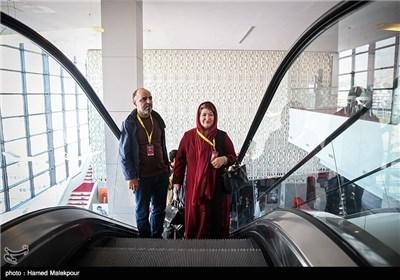 پوران درخشنده در چهارمین روز سی و چهارمین جشنواره جهانی فیلم فجر