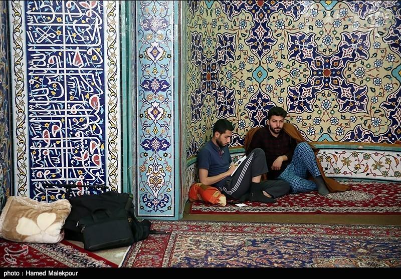 مراسم معنوی اعتکاف در مسجد جلیلی