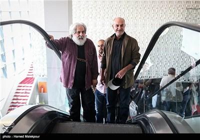 علی عمرانی بازیگر و محمد رحمانیان کارگردان فیلم سینما نیمکت در پنجمین روز سی و چهارمین جشنواره جهانی فیلم فجر