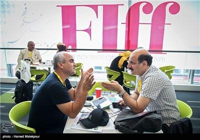 حمید خضوعی ابیانه و ساعد نیکزاد فیلمبرداران سینما در پنجمین روز سی و چهارمین جشنواره جهانی فیلم فجر