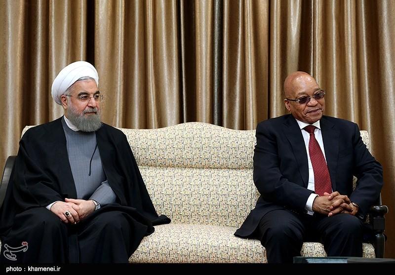 Ayatollah Khamenei Receives South African President Zuma