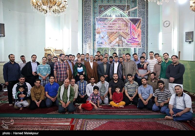 مراسم اعتکاف کارکنان و خبرنگاران تسنیم در مسجد جلیلی