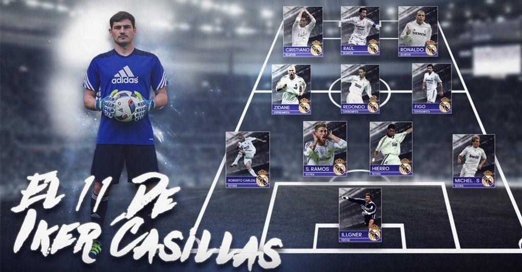 تیم منتخب تمامی ادوار رئال مادرید از نگاه کاسیاس