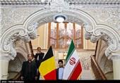 دیدار و کنفرانس خبری رؤسای مجلس ایران و بلژیک