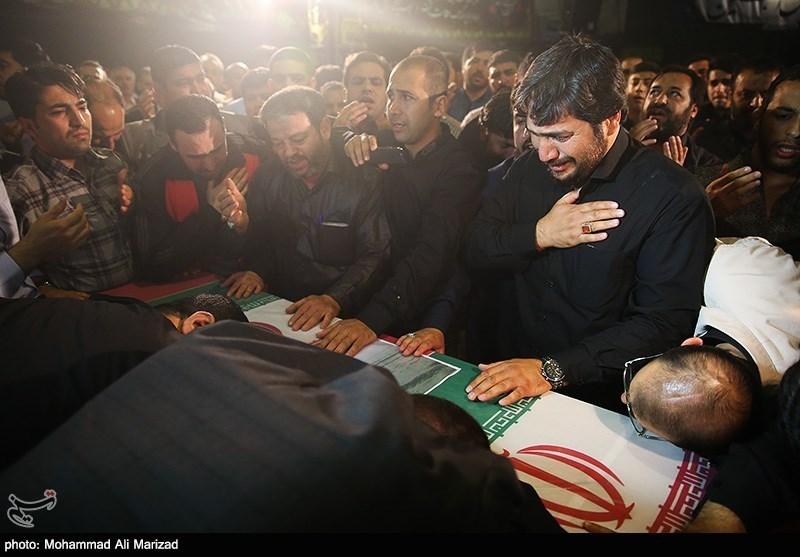 مراسم وداع با پیکر شهید حاج حسن اکبری