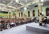 دانشجویان دانشگاه فرهنگیان سوگندنامه معلمی را در محضر امام خامنهای قرائت کردند