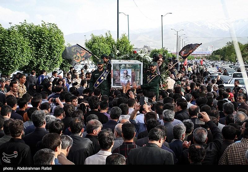 مراسم تشییع شهید تازه تفحص شده علیرضا شمسی پور