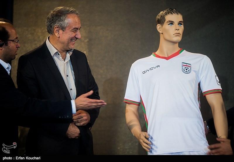 مراسم رونمایی از پیراهن تیم ملی فوتبال