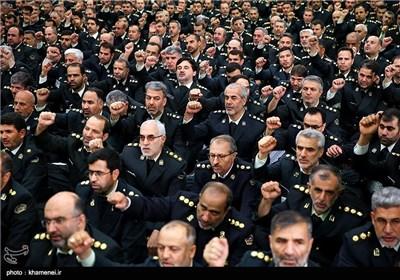 Iranian Police Commanders Meet Imam Khamenei