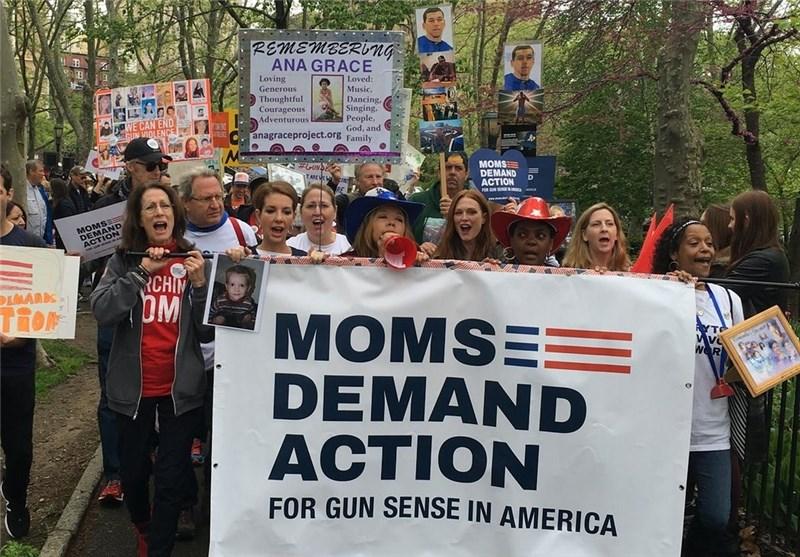 Hundreds March across New York Bridge for Stricter Gun Laws