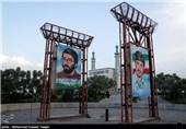 مراسم وداع با شهدای مدافع حرم در مشهد