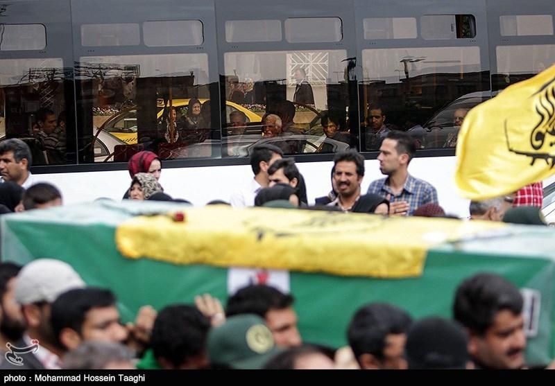 تشییع چهار شهید مدافع حرم در مشهد
