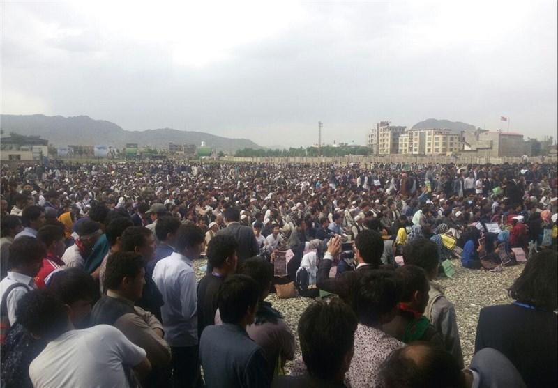 تظاهرات علیه تعییر مسیر توتاپ در کابل 4