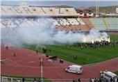 جشن صعود ماشینسازی به لیگ برتر در استادیوم یادگار امام+عکس