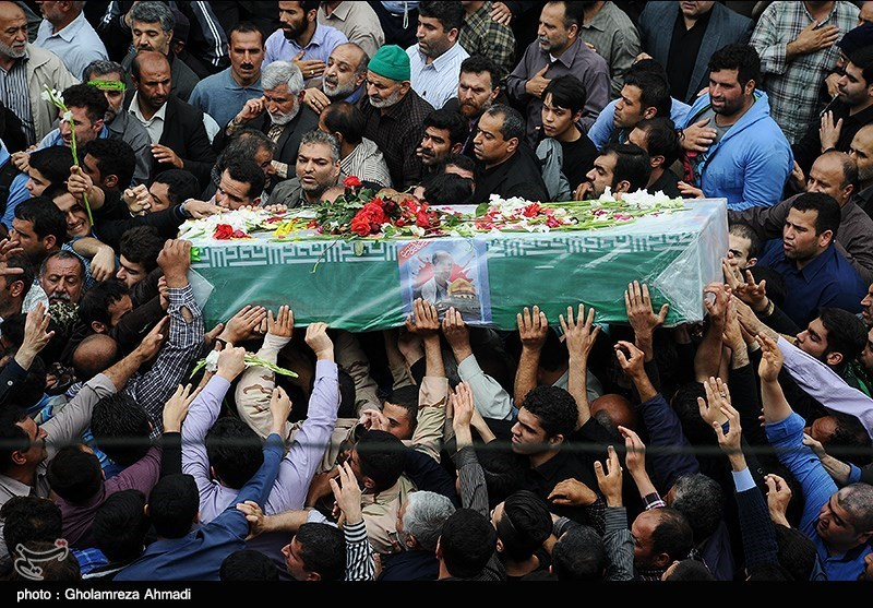تشییع شهدای مدافع حرم در بهشهر