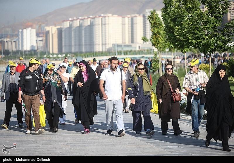 سومین همایش پیاده روی کانون بازنشستگان شهرداری تهران