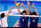 دیدار تیمهای ملی والیبال ایران و فرانسه