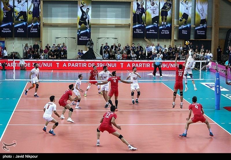 دومین دیدار دوستانه تیم های والیبال فرانسه و ایران
