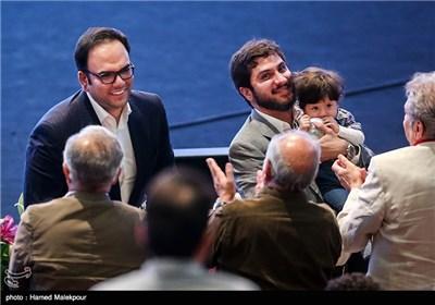 سیدهادی رضوی و سیدمحمد امامی سرمایهگذاران سریال شهرزاد در جشن پایانی سریال