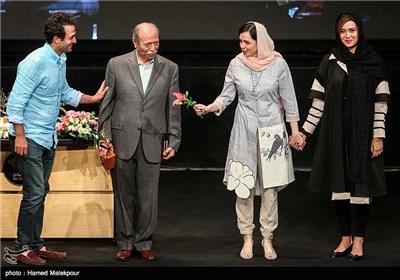 پریناز ایزدیار، ترانه علیدوستی، علی نصیریان و مصطفی زمانی در جشن پایان سریال شهرزاد