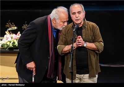 پرویز پرستویی و ناصر ملکمطیعی در جشن پایان سریال شهرزاد